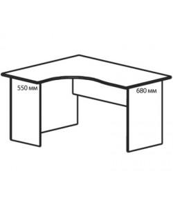 Стол угловой B-824Л/Пр. Размер: 1380*1180*740 мм