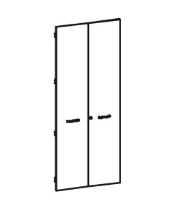 Двери высокие B-866 Размер: 706*1826*16 мм