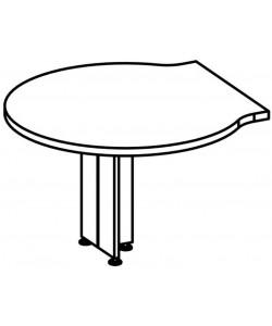 Брифинг-приставка боковая 9553 Размер: 1200*1200*760 мм