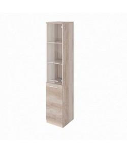 Шкаф узкий со стеклом FOT304510 Размер: 390*420*1990 мм
