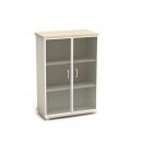 Шкаф со стеклом в раме К-55 Размер: 854*442*1282 мм
