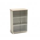 Шкаф со стеклом К-3 Размер: 854*442*1282 мм
