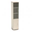 Шкаф узкий со стеклом К-13 Размер: 430*442*2080 мм