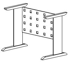 Комплект металлокаркаса к столешницам ПЕ-2, ПС-33 МК-121