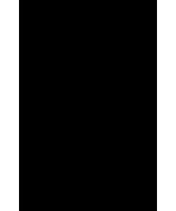 Шкаф со стеклом (с замком) ЛКС-85.1 Размер: 850*430*2025 мм