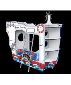Кровать  Корабль Двухпалубный