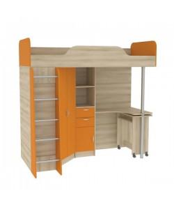 Кровать-чердак со столом Ника 427Т. Размер: 2044*1113*1920 мм.