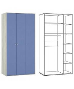 Шкаф трехстворчатый Тетрис-1 357. Размер: 1064*582*2128 мм.
