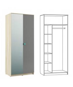 Шкаф 2-х дверный Доминика 451/02  898*600*2180 мм