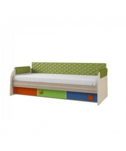 Кровать 3 ящика №12.1, спинка мягкая СМ№7.1, подлокотники 1.1 Размер: 1942*920*640 мм.
