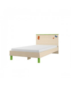 Кровать №84.01, спинка С №5.1 Размер: 942*336*1925 мм.