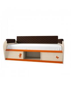 Кровать с 2 ящиками №12.2М, спинка СМ №7.1, подлокотники 1.1  Размер: 920*640*1942 мм.