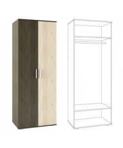 Палермо Шкаф 2-дверный 200 Размер: 800*530*2120 мм
