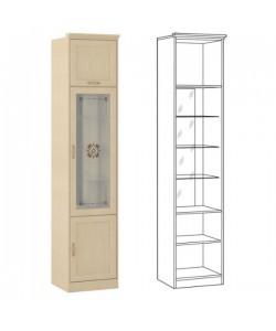 Шкаф-витрина Флорида-1 502/02. Размер: 508*440*2252 мм.