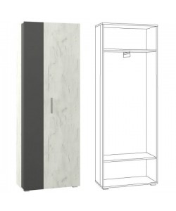 Шкаф для одежды Юнона. Размер: 679*350*1912 мм.