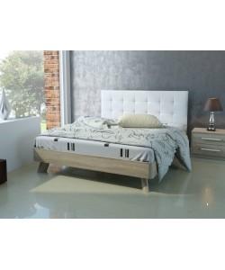 Кровать №69, спинка СМ №1. Размер: 2025*1646*340 мм.