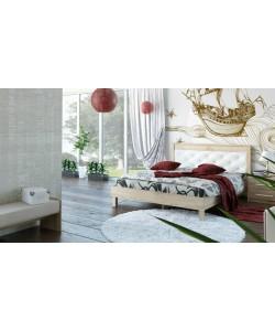 Кровать №93.01, спинка СМ №11.1 Размер: 2012*1642*340 мм.