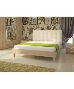 Кровать №93.01, спинка СМ № 1 Размер: 2012*1648*340 мм.