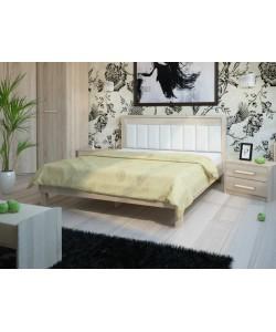 Кровать №93.01, спинка СМ № 11 Размер: 2012*1642*340 мм.