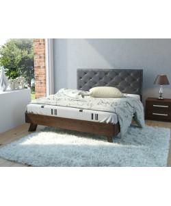 Кровать №69 (старое дерево), спинка № СМ 14 Размер: 2025*1646*340 мм.