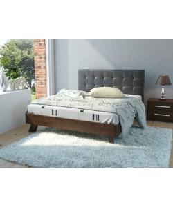 Кровать №69 (старое дерево), спинка № СМ 11 Размер: 2025*1646*340 мм.
