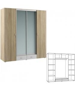 Шкаф четырехстворчатый Линда 312. Размер: 2012*620*2200 мм