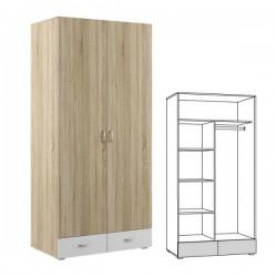 Шкаф двухстворчатый Линда 305. Размер: 1022*620*2200 мм