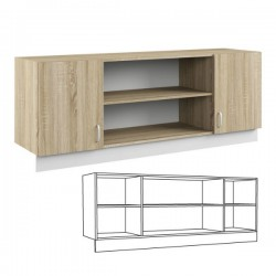 Шкаф навесной 160 Линда 313 . Размер: 1684*440*650 мм.