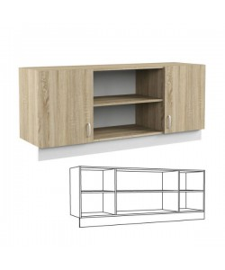 Шкаф навесной 140 Линда 313. Размер: 1484*440*650 мм.