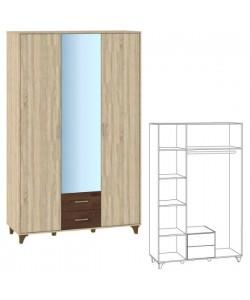Шкаф 3 дверный Размер: 1384*519*2216 мм