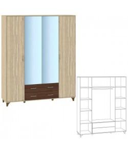Шкаф 4 дверный Размер: 1833*519*2216 мм