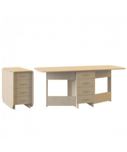 Стол-книжка с ящиками Глория 606М. Размер: 780*424/1822*753 мм.