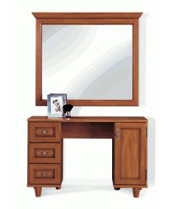 Туалетный стол с зеркалом Нью-Йорк. Размер стола: 1140*460*745 мм. Размер зеркала: 1135*60*955 мм.