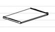 Полка для клавиатуры ЛДСП ПК-25 Размер: 400*758*16 мм