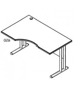 Стол рабочий угловой металл СА-2МЛ Размер: 1400*900*755 мм