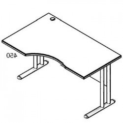 Стол рабочий угловой металл СА-1МЛ Размер: 1600*900*755 мм