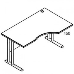 Стол рабочий угловой металл СА-1МПр Размер: 1600*900*755 мм