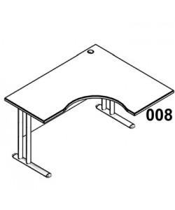 Стол рабочий угловой металл СА-3МПр Размер: 1400*1200*755 мм