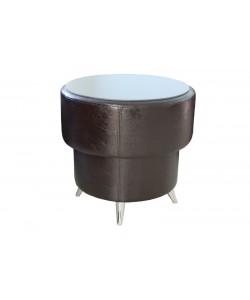 Стол круглый со стеклом. Размер: D600 мм.