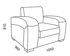 Кресло Размер: 1050*960*810 мм