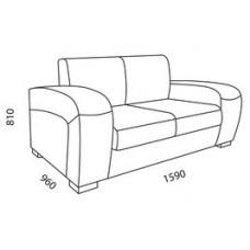 диван двухместный размер 1590960810 мм