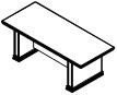 Стол переговоров PRT208 Размер: 2200*950*780 мм