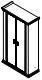 Гардероб PRT401 Размер: 1240*515*2148 мм