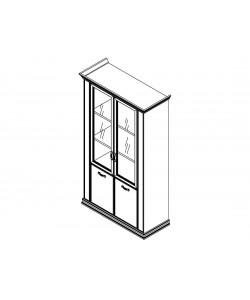 Шкаф комбинированный со стеклом PRT403 Размер: 1240*515*2148 мм