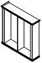 Каркас шкафа 2-х секционного PRT402 Размер: 2147*515*2148 мм