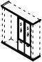 Комплект дверей стекло/ДСП PRT428 Размер: 900*26*1986 мм