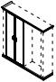 Комплект дверей гардеробных PRT429 Размер: 900*26*1986 мм
