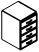 Тумба подвесная 4 ящика PRT106 Размер: 450*525*675 мм