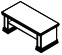 Стол кофейный PRT206 Размер: 1200*600*500 мм