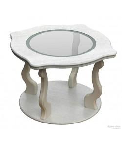 Стол журнальный Берже-4 со стеклом  на колесах. Размер: 94*60 h56 см.